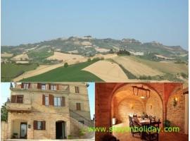 Tipico agriturismo con vista panoramica, Cossignano (AP), Marche