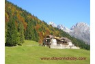 Typical alpine cottage, Mel (BL), Italy